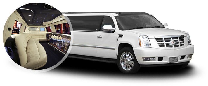 Cadillac Suv Stretch White Limousine Is A Full Size Sport Utility Vehicle That Was Produced By It The Largest